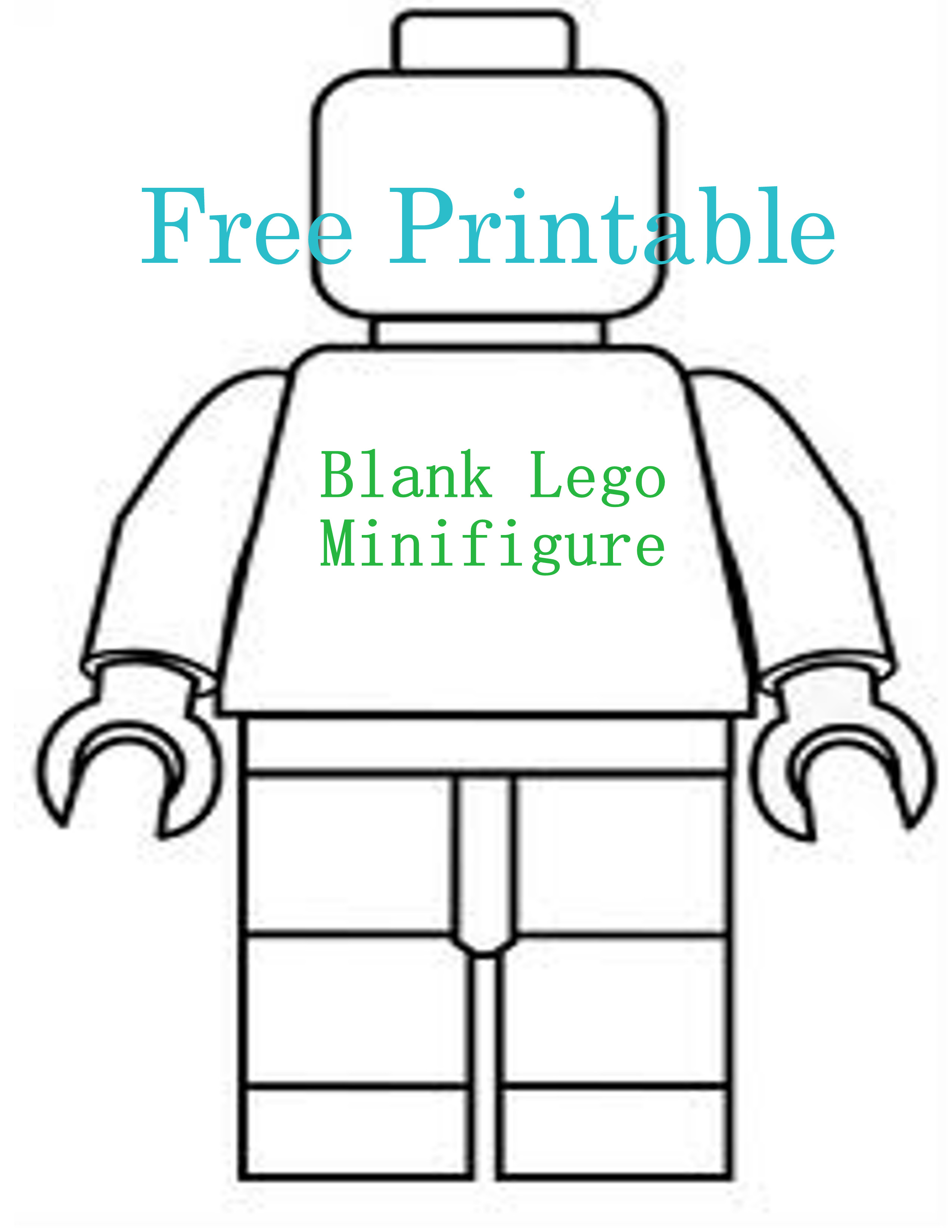 image about Lego Man Printable called Absolutely free Printable ~ Blank Lego Minifigure Lovable BenannaSam