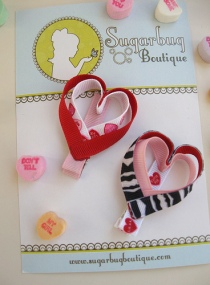 valentine heart clippie