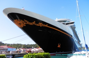 The impressive Disney Fantasy tendered in St. Martin