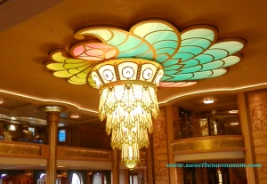 Chandelier in the main atrium