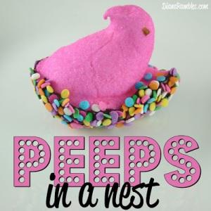 Peeps-in-a-nest