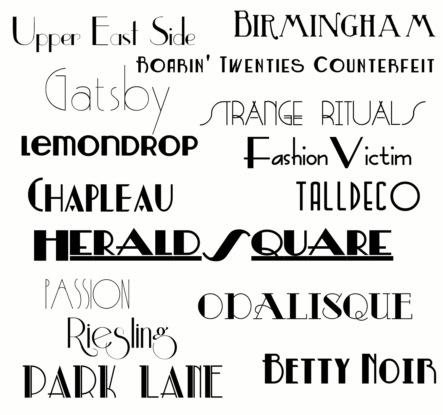 gatsby fonts