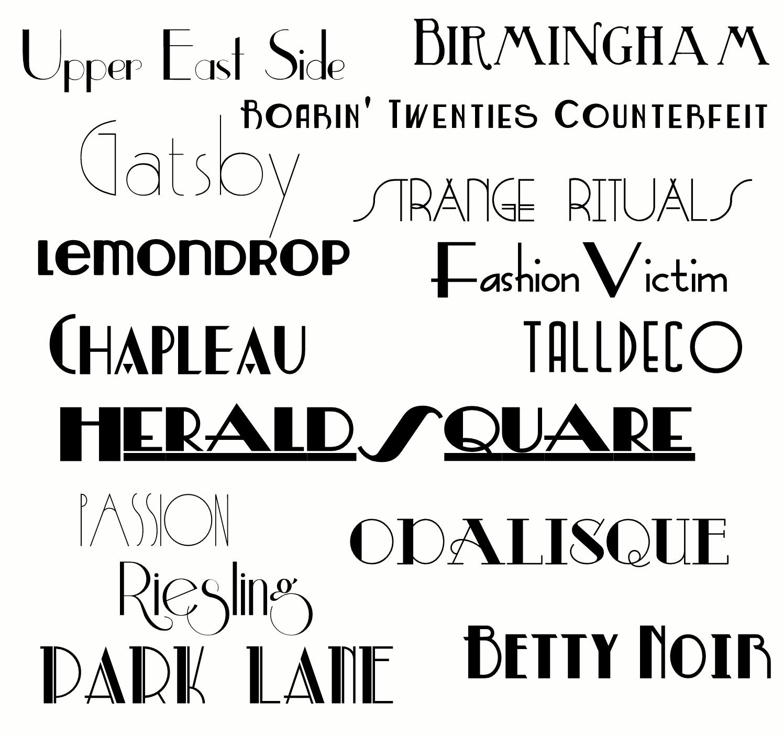 gatsby fonts
