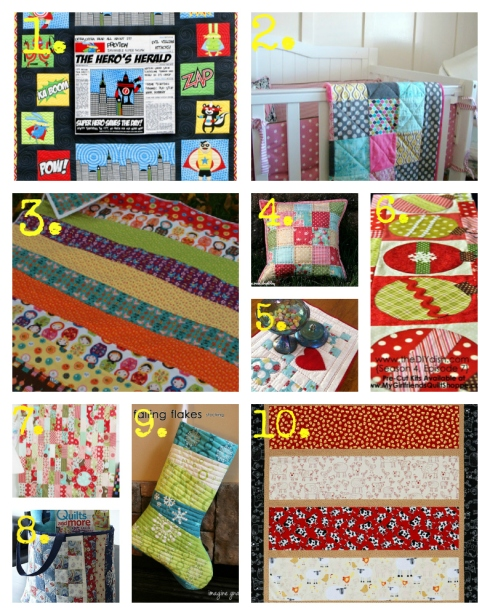 numberedquilting collage
