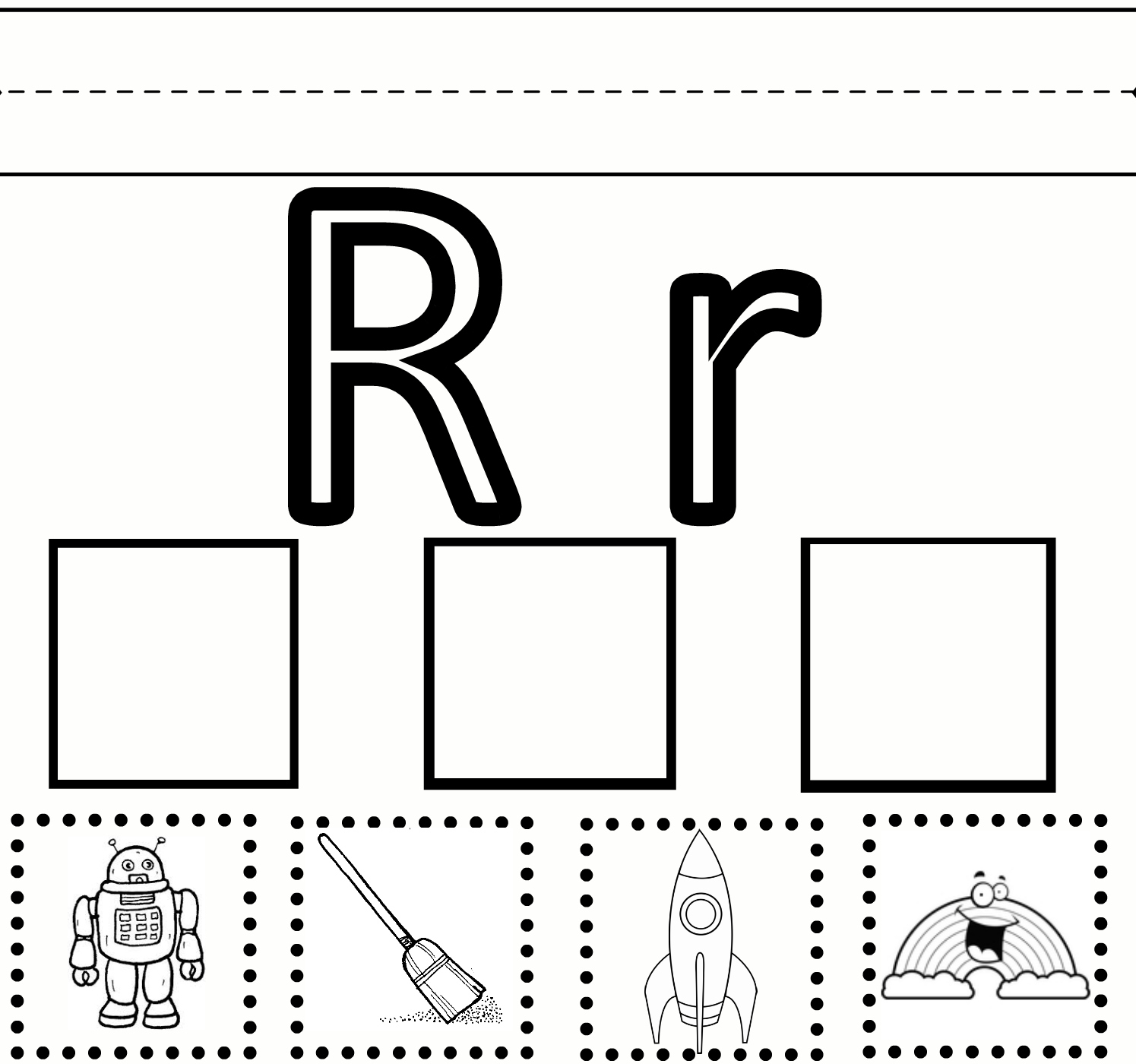 letter r coloring pages preschool - photo#29