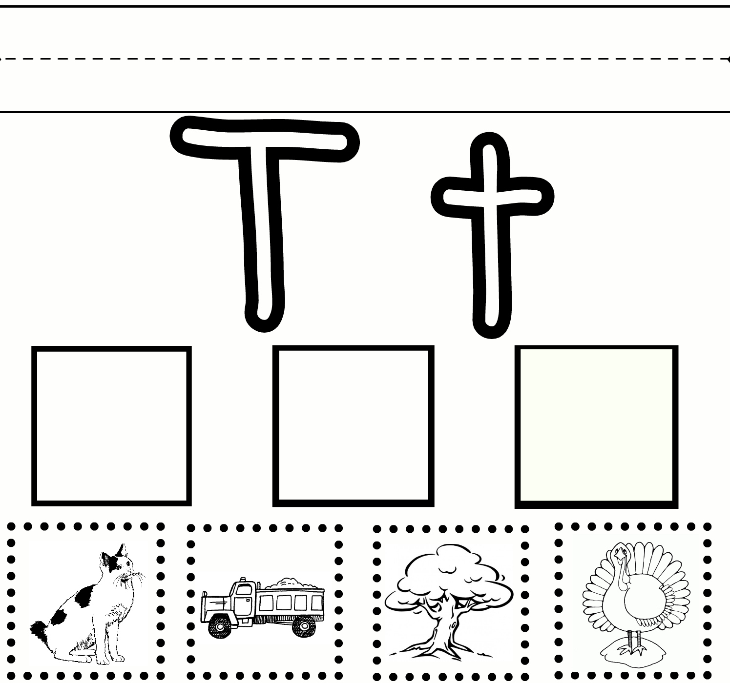 photo relating to Giant Printable Letters titled Preschool Mastering Letter T Cost-free Printable Worksheet