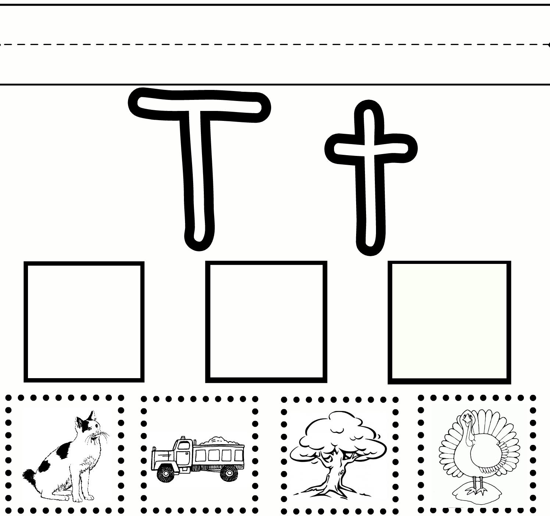 Letter T Worksheets Delibertad – Letter Review Worksheets