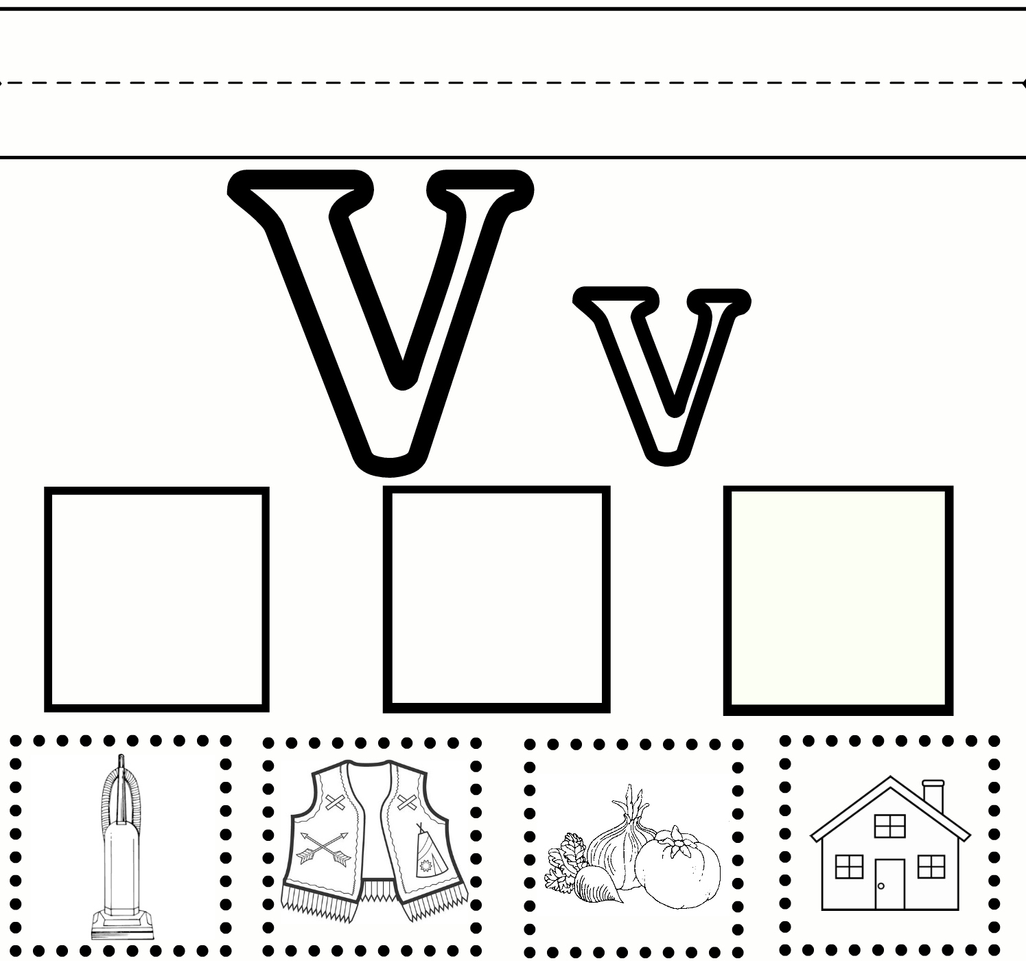 Letter V Worksheet {free Printable